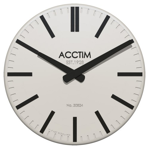 Acctim Biel Wall Clock, White