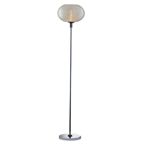 Casa Orb Floor Lamp, Chrome