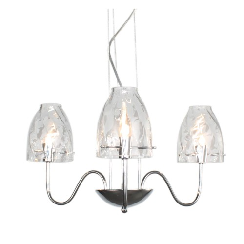 Casa Cut Glass 3 Light, Chrome