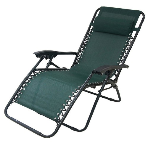 Blackspur Reclining Garden Chair, Green