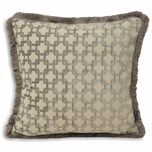Belmont Feather Filled Cushion, Silver