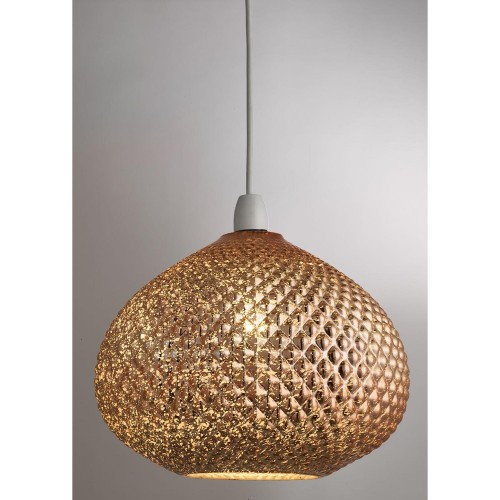 Casa Gigi Glass Ne Pendant, Gold