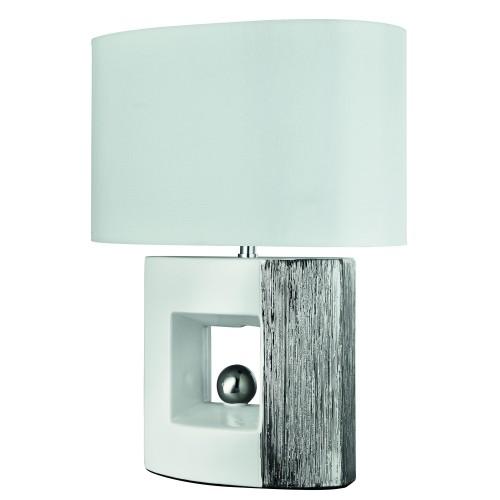 Casa Ambra Square Table Lamp, White