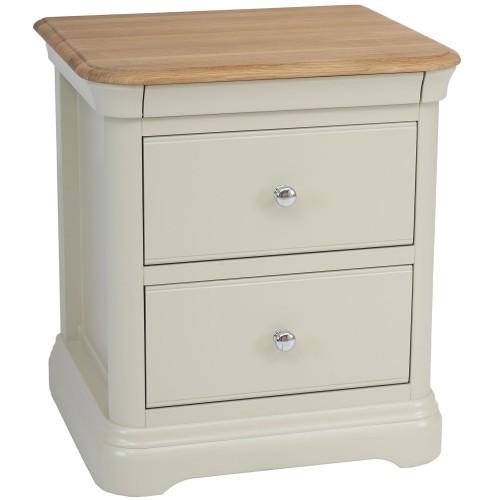 Casa Cherbourg Large 2 Drawer Bedside Cabinet