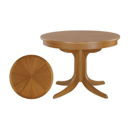 Nathan Furniture Limited Shades Circ Ped Tbl Sunburst T Table, Teak