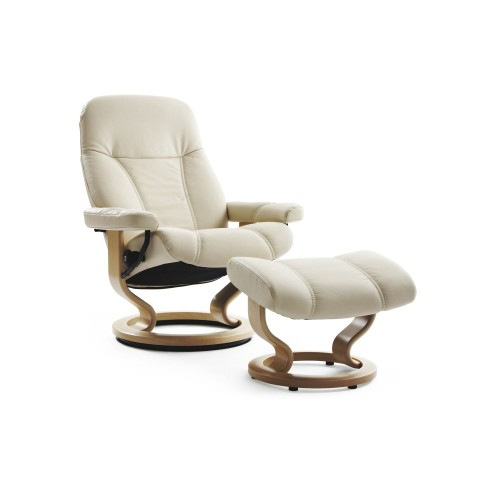 Stressless Consul Large Chair & Stool