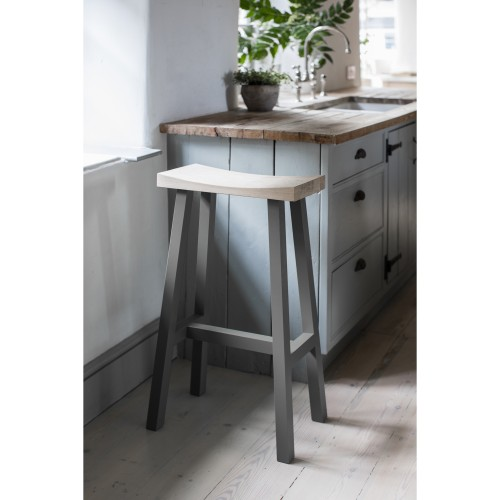 Garden Trading Tall Clockhouse Stool, Charcoal