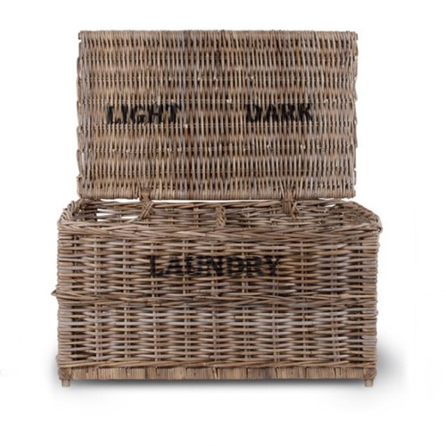 Garden Trading Dark And Lights Laundry Chest, Rattan