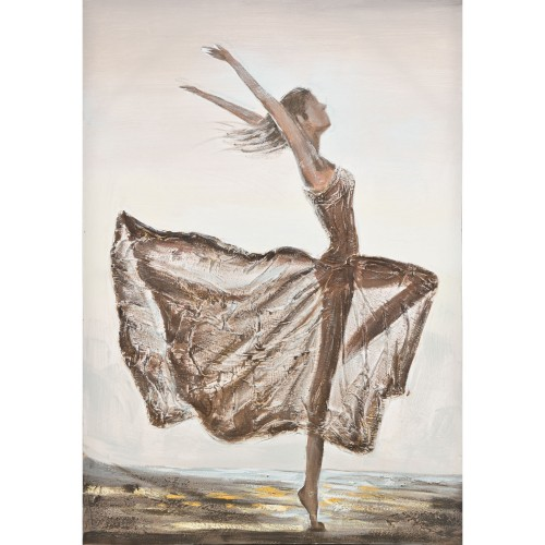 Casa Ballerina Hand Painted Canvas, Brown
