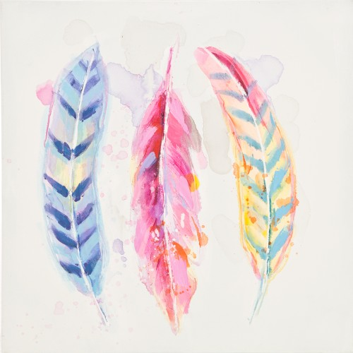 Pastel Feathers Canvas