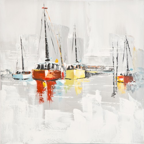 Harbour Days Oil Painting on Canvas