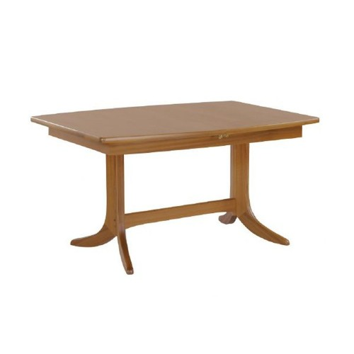 Nathan Furniture Limited Shades Teak Sml Boat Ped Table Table, Teak