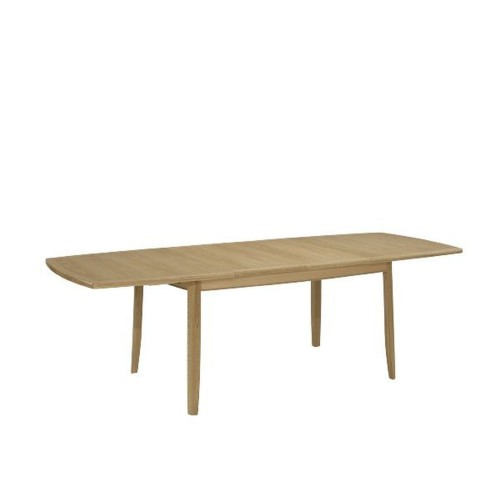 Nathan Shades Oak Extending Boat Shaped Table With Legs