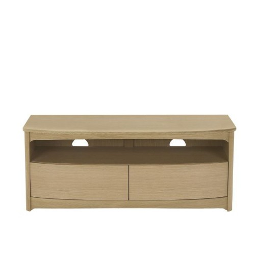 Nathan Shades Oak Shaped Tv Unit With Drawers