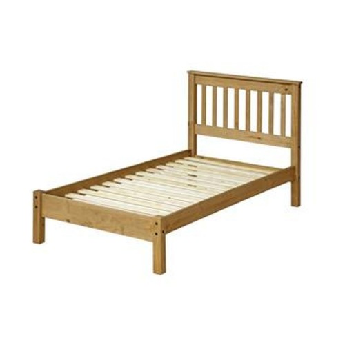 Core Products Double Slatted Low End Bed Onesize, Waxed Pine