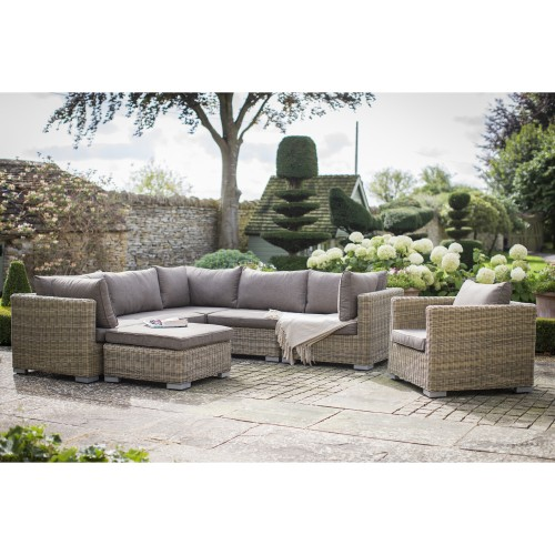 Garden Trading Marden Outdoor Corner Sofa Set Natural Ratta