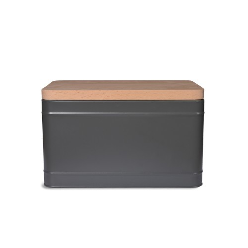 Garden Trading Borough Bread Box, Charcoal