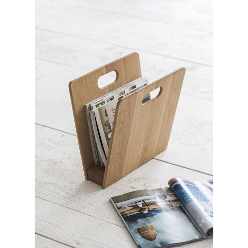 Garden Trading Woodstock Magazine Rack, Raw Oak