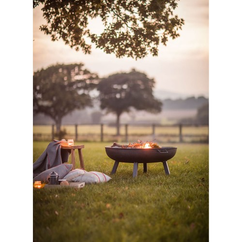 Garden Trading Large Foscot Fire Pit, Raw Metal