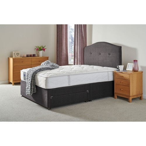 Sealy Wool Divine Support Two Drawer Divan Set, Double