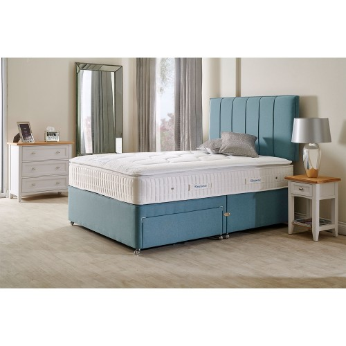 Sleepeezee Cooler Ultima Two Drawer Divan Set, Double, Teal