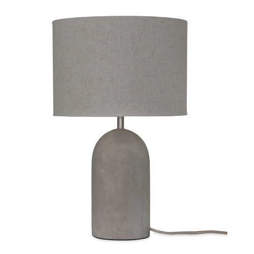Garden Trading Millbank Bullet Table Lamp, Polymer Concrete