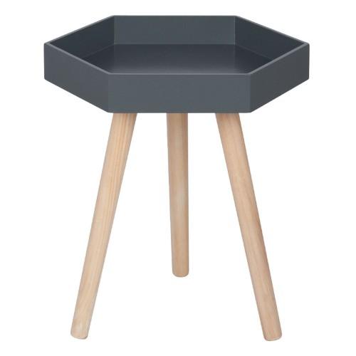 Casa Halston Hexagon Table Small, Dark Grey