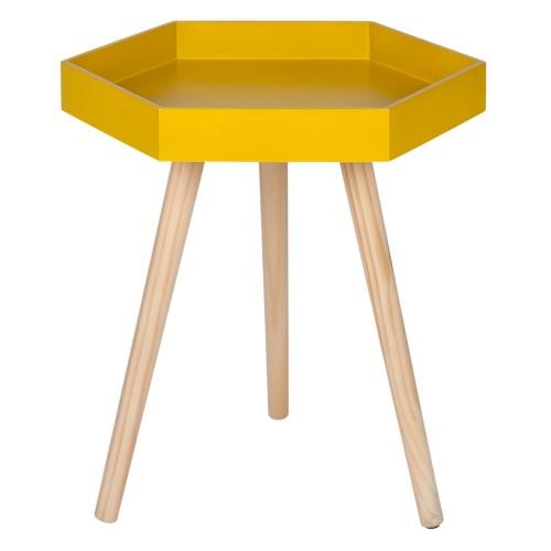 Casa Hexagon Large Table, Mustard