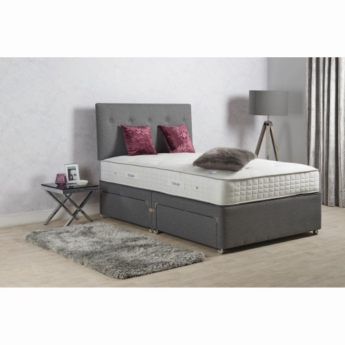 Sleepeezee Turin 1400 P/t 4 Drw Set King King, Pewter