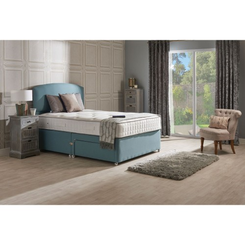 Sleepeezee Pisa 1200 P/t 2 Drw Set Dbl Double, Teal