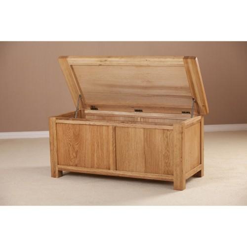 Casa Seville Large Blanket Box Blktbox, Solid Oak