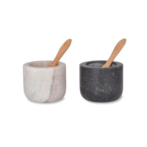 Garden Trading Brompton Salt And Pepper Pots, Marble/granite