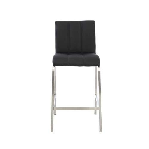 Casa Leo Bar Stool - Black Stool, Black