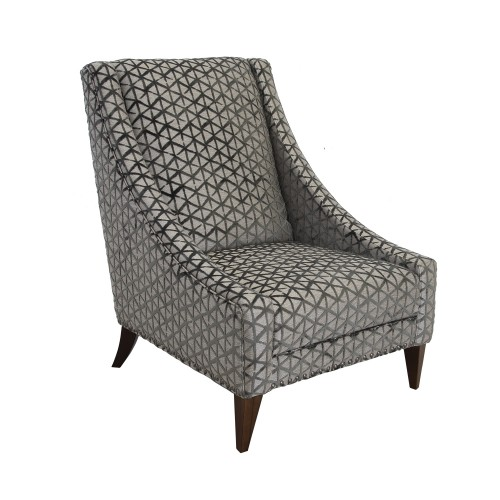 Casa Sophia Accent Chair, Trilogy Mink/nickel/antique