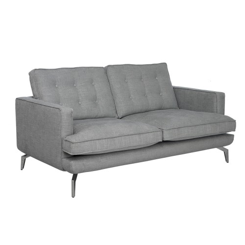 Casa Dante 170cm Sofa, Hazel Mist Base/chrome Foot