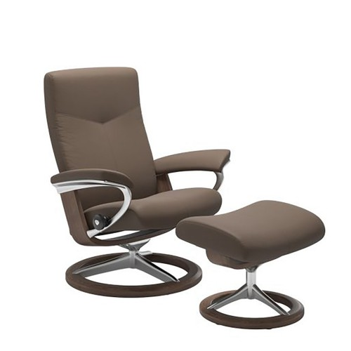 Stressless Dover Chair And Footstool, Large, Batick