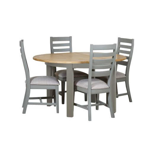 Casa Wexford Round Extending Table & 4 Chairs
