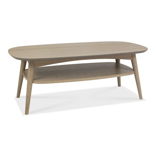 Casa Ottawa Coffee Table With Shelf, Scandi Oak