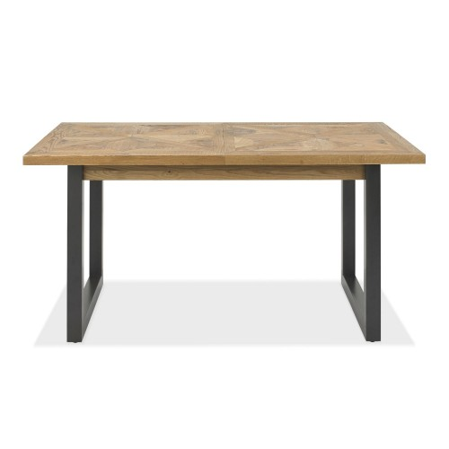 Casa Finsbury Extending Dining Table, Rustic Oak & Peppercorn