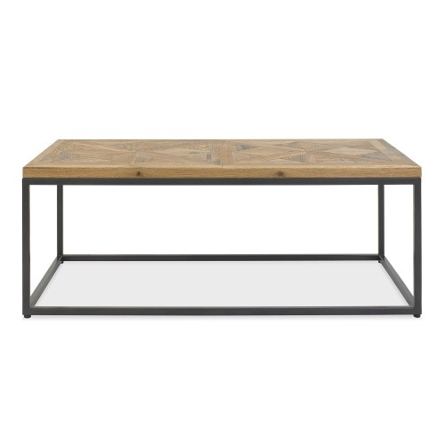 Casa Finsbury Coffee Table, Rustic Oak & Peppercorn