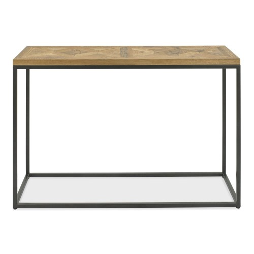 Casa Finsbury Console Table, Rustic Oak & Peppercorn