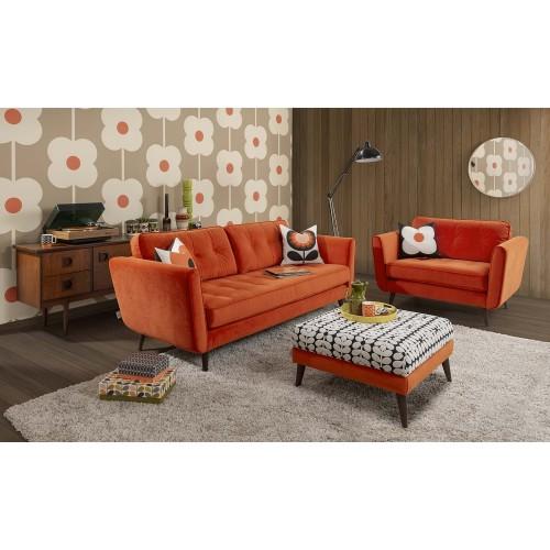 Orla Kiely Ivy Large Sofa (b), Glyde Tomato