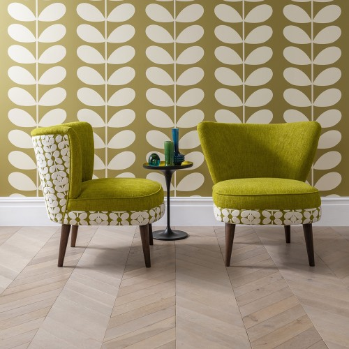 Orla Kiely Una Chair (b), Body;eske Yellow Olive