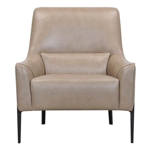 Casa Elm Leather Accent Chair, Taupe