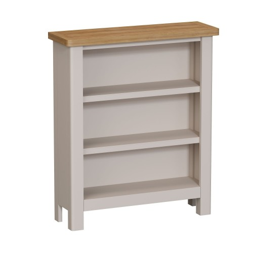 Casa Portland Wide Bookcase, Small, Grey