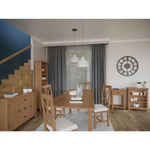 Casa Radstock 1.6m Extendable Table & 6 Chairs, Brown