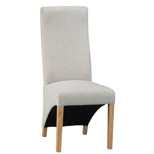 Casa Wave Back Chair x 2, Cappucino