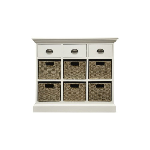 Casa Winslow 3 Drawer 6 Basket Unit, Rattan