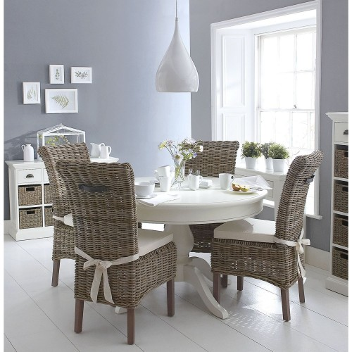 Casa Winslow Table & 4 Chairs, Rattan