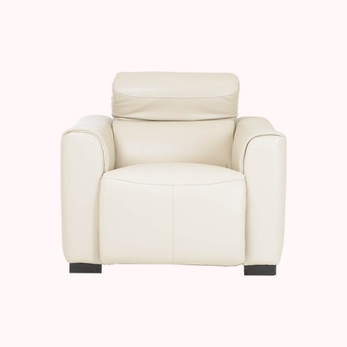 Casa Charlie Power Recliner Leather Chair, Beige
